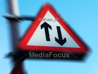 Directional Traffic Sign Stock Photo