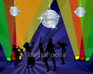 Disco Dancer. Stock Photo