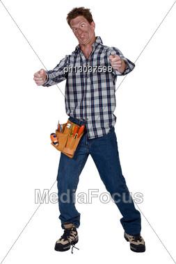 Disoriented Man Stock Photo