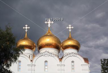 Dome Orthodox Christian Church Stock Photo