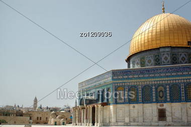 Dome Of The Rock In Jerusalem In Israel Stock Photo