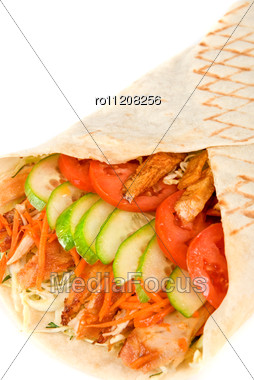 Doner Kebab Closeup . Stock Photo