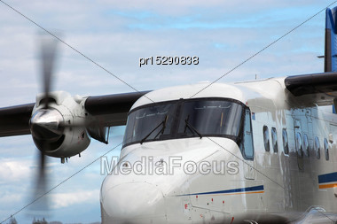 Dornier 228 Starting Up On Tarmac Stock Photo