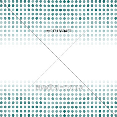 Dotted Azure Background. Halftone Pattern. Comic Book Background Stock Photo