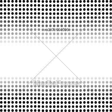 Dotted Black Background. Halftone Pattern. Comic Book Background Stock Photo