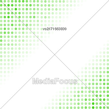 Dotted Green Background. Halftone Pattern. Comic Book Background Stock Photo