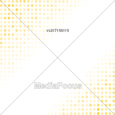 Dotted Yellow Background. Halftone Pattern. Comic Book Background Stock Photo