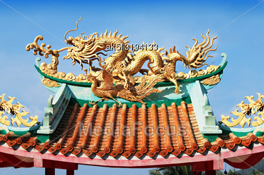 Dragon At Kuan Yin Temple Stock Photo