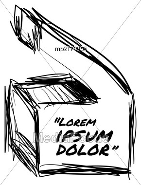 Drawn Quotes And A Frame To Highlight The Frame, Quotes And Other Text In The Article, Or As A Separate Element. Vector Illustration Stock Photo