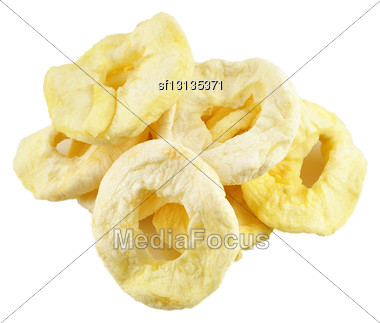Dried Apples On A White Background Stock Photo