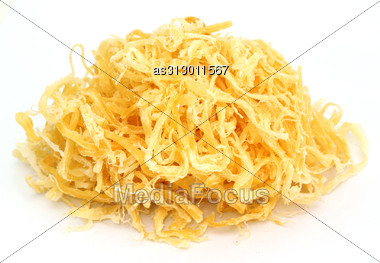 Dried Squid Isolated Stock Photo