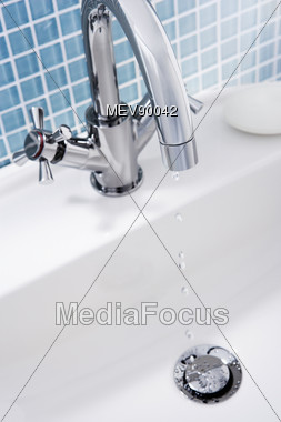 Dripping Faucet Of A Sink Stock Photo