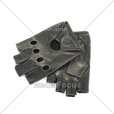 Drivers Male Leather Gloves Isolated On A White Stock Photo