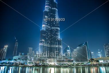 DUBAI, UAE - NOVEMBER 13: Burj Khalifa On November 13, 2012 In Dubai, UAE. Burj Khalifa Is Currently The Tallest Building In The World, At 829.84 M (2,723 Ft Stock Photo