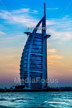 DUBAI, UAE - NOVEMBER 14 :The World's First Seven Stars Luxury Hotel Burj Al Arab, November 14, 2012 In Dubai, United Arab Emirates Stock Photo