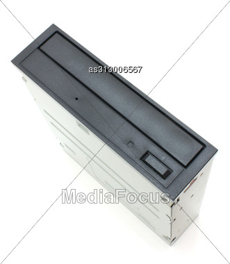 DVD Drive With Disk, Computer Device Stock Photo