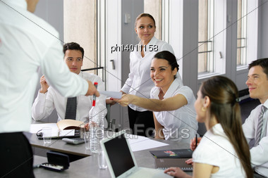 Dynamic Brainstorming Session Stock Photo