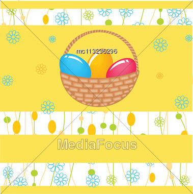Easter Card With Two Hand Drawn Eggs Stock Photo