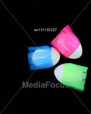 Easter Eggs On Colour Background. Close-Up Stock Photo