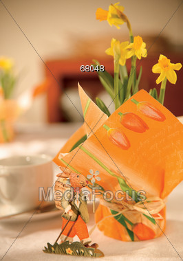 Easter Table Decorations Stock Photo