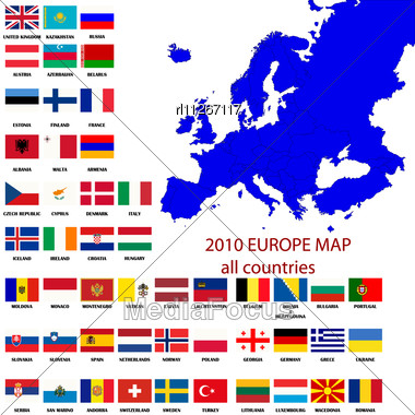 Stock Photo Editable Map Europe All Countries Borders Image - Map of europe countries