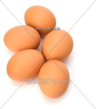 Eggs Isolated On White Background Stock Photo