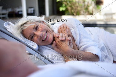 Elderly Couple Enjoying Retirement Stock Photo