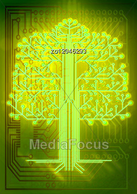 Electric Board For Installation Of The Electronic Scheme Stock Photo