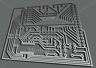 Electric Board For Installation Of The Electronic Scheme - Stock ...