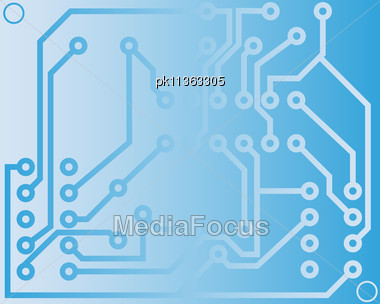 Electric Scheme For Design Use. Vector Illustration. Stock Photo