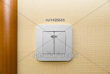 Electrical Light Wall Switch. Western-style Renovation Stock Photo