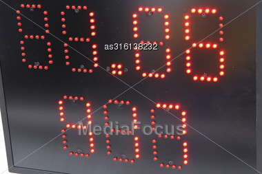 Electronic Display For Information In Sports Black Stock Photo