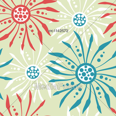 Elegance Stylish Floral Seamless Pattern. Abstract Beautiful Vector Illustration Texture Stock Photo