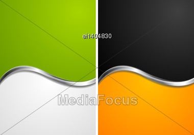 Elegant Abstract Wavy Backgrounds. Vector Design Eps 10 Stock Photo