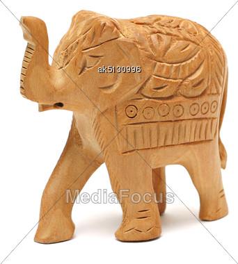 Elephant Figure Isolated On White Stock Photo