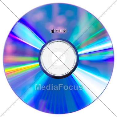 Empty Compact Disc Stock Photo