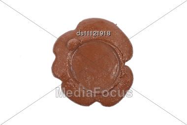 Empty Wax Seal Stock Photo