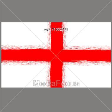 English St. George Flag On Grey Background Stock Photo