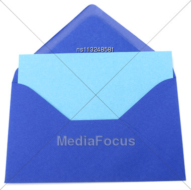 Envelope With Card Isolated On White Background Stock Photo