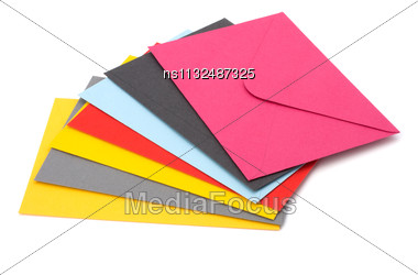 Envelopes Isolated On The White Background Stock Photo