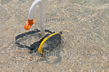 Equipment For A Scuba Diving In Water Stock Photo