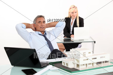 Estate Agents Stock Photo