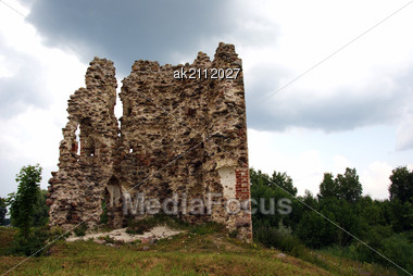 Estonia. Laiuse. Ruins Of A Castle . 15 Century Stock Photo