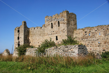 Estonia. Toolse. Ruins Of A Castle . 1471. Earlier Tolsburg Or Vredeborch Stock Photo