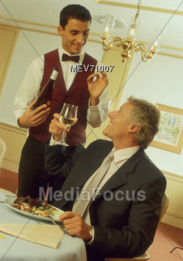 An Excellent Wine Stock Photo