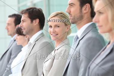Executives In A Row Stock Photo