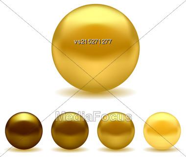Exotix Bronze Pearls Isolated On White Background Stock Photo