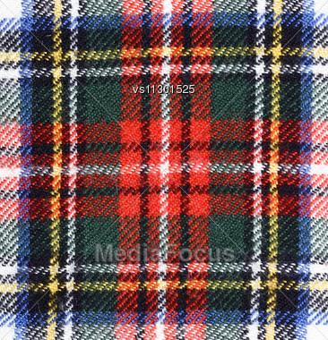 Fabric Plaid Texture. Cloth Background Stock Photo