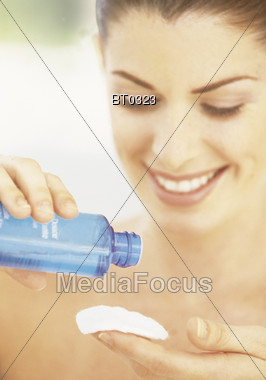 Facial Cleansing Stock Photo
