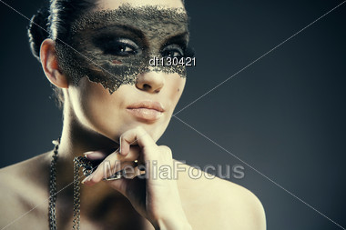 Faity Tale. Abstract Grungy Female Portrait Stock Photo